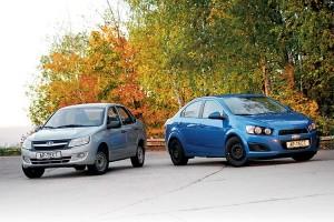 Lada Granta или Chevrolet Aveo – выбор за вами